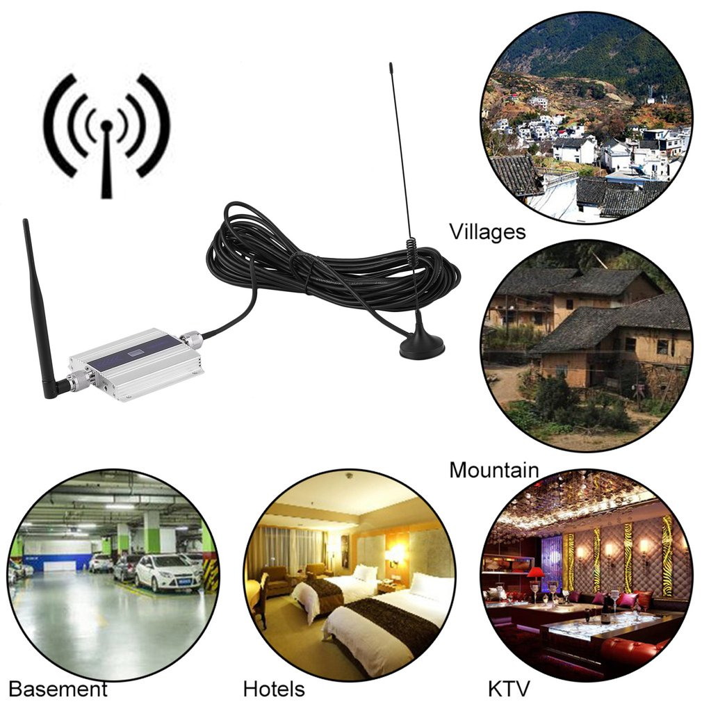Powerful GSM 900MHz Mobile Cell Phone Signal Booster Repeater Amplifier Aerial Set For Home Signal Indicators