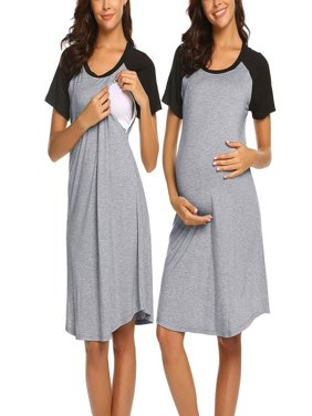 5de1a4ae0de Product Image Women Maternity Dress Nursing Baby Nightgown Breastfeeding  Nightshirt Sleepwear