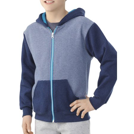 Boys' Explorer Fleece Super Soft Zip Hoodie with Contrast - Hoodie With Ears