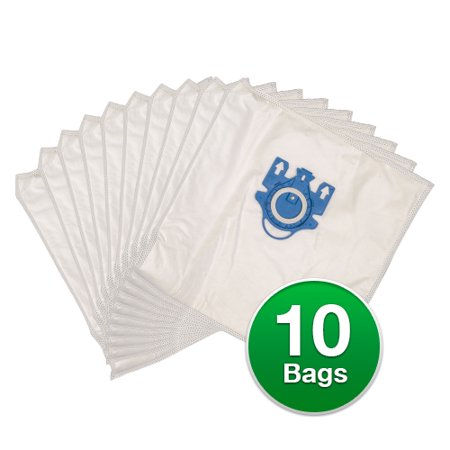 Replacement Type G/N Allergen Plastic Collar Vacuum Bags For Miele Olympus S2120 Vacuums - 2 (Allergen Replacement Vacuum Bags)