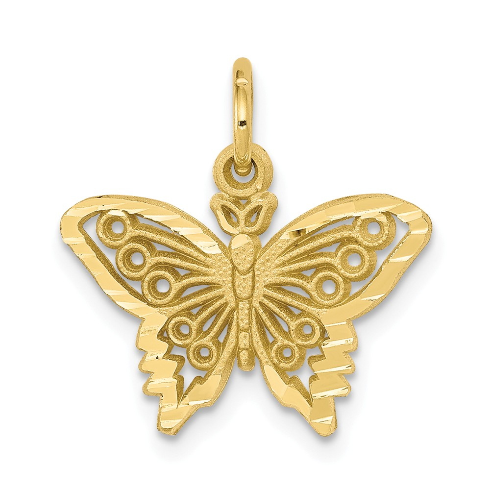10k Yellow Gold BUTTERFLY Pendant