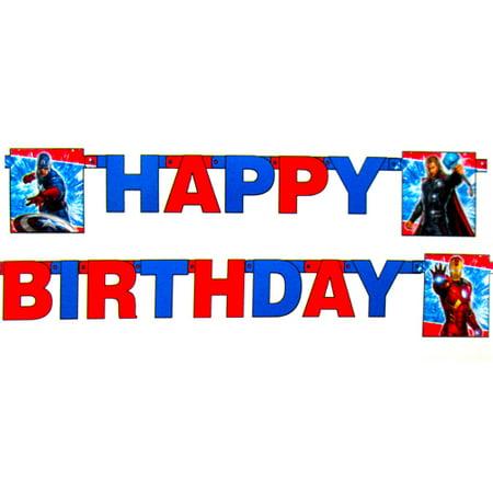 Avengers Happy Birthday Banner (6ft) - Happy Birthday Avengers