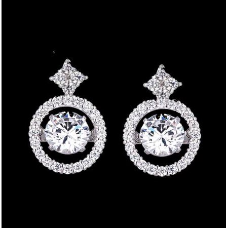 db8e82658 Diamond Simulant Earrings Amazing Deal On Stunning 2 Ctw Round Halo ...