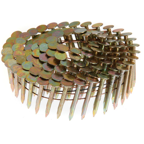 "Grip Rite GRCR4DGAL 1-1/2"" x .120"" Smooth Shank Electro-Galv Coil Roofing Nails, 7,200-Count"