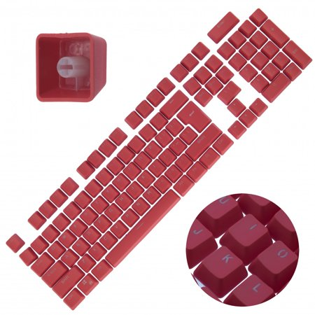 - Backlit Double Shot Color Keycaps Cherry MX Mechanical Keyboard Themes Red 104