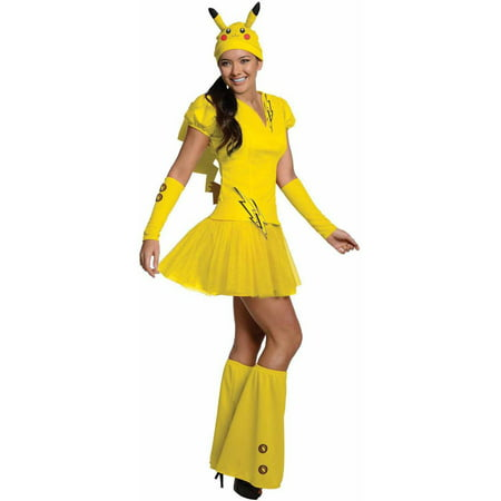 Pokemon Pikachu Women's Adult Halloween Costume (Pikachu Costume Adult)