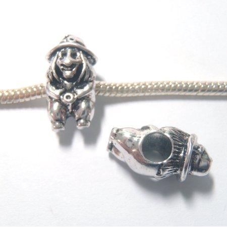 3 Beads - Witch Halloween Silver European Bead Charm E1324 - Halloween Charms Loom