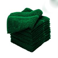 "GHP 12-Pcs 16""x27"" Cotton Terry Cloth Green Premium Salon Ringspun Soft Hand Towels"