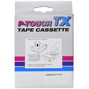 Brother TX7511 1in Black on Green P-Touch Tape