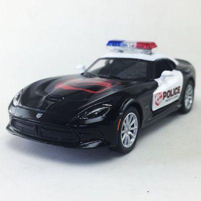"""5"""" Kinsmart 2013 Dodge SRT Viper GTS Police Car Diecast Model Toy Cop 1:36"""