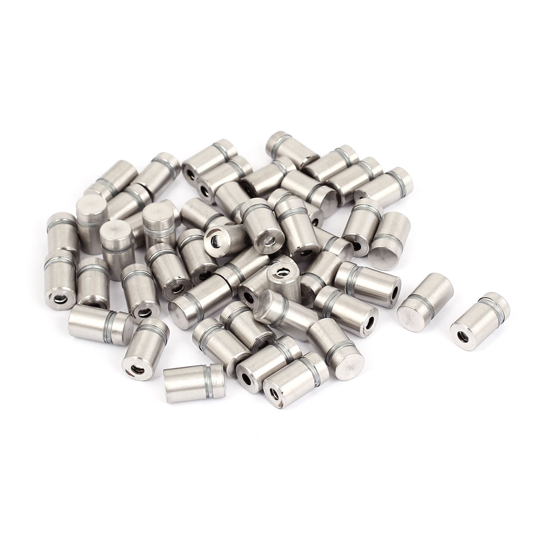 12mmx20mm Stainless Steel Decorative Advertising Screw Nails Silver Tone 50Pcs