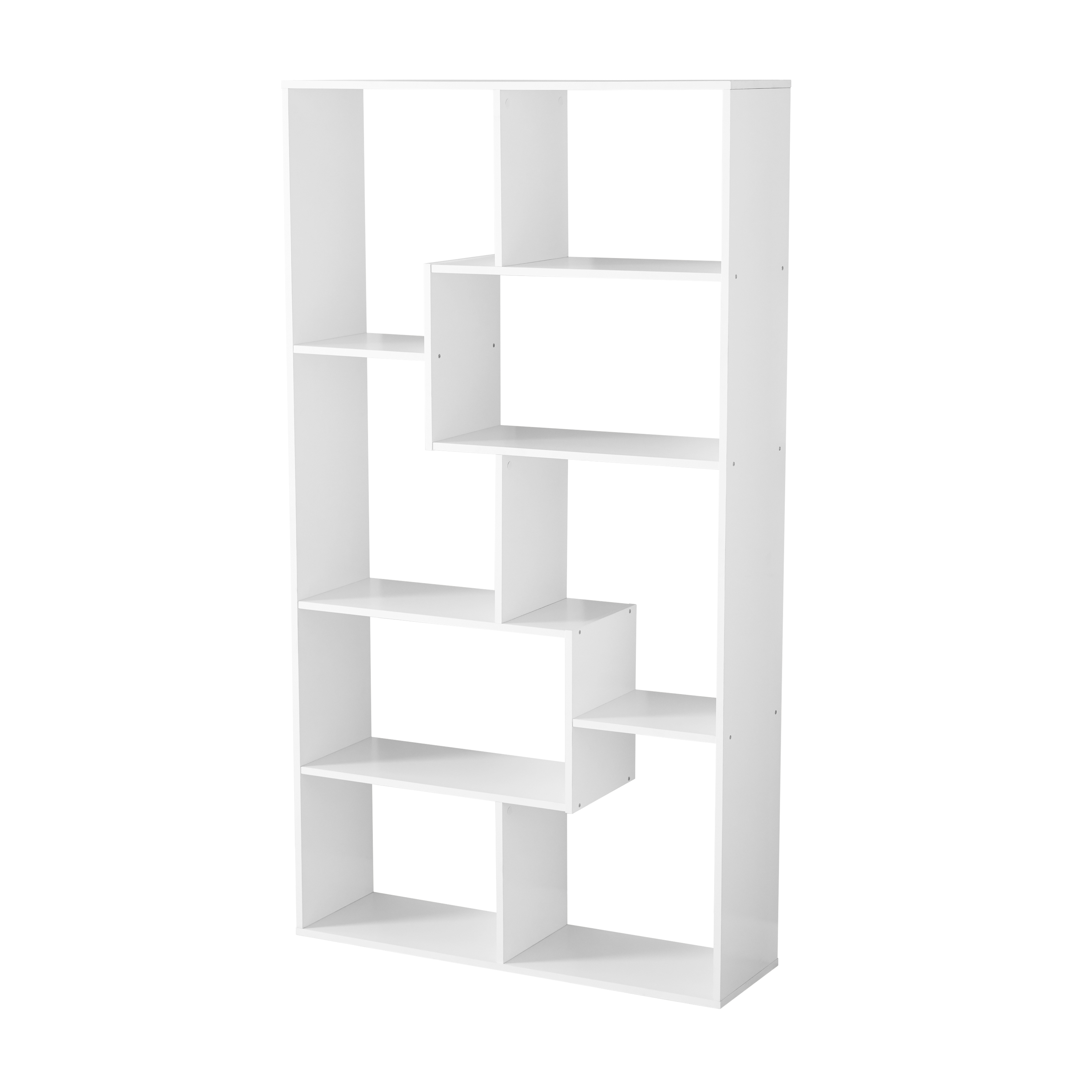 Details About Cube Shelving Unit Tall Narrow Bookcase 8 Shelf Display Case Media Storage Open