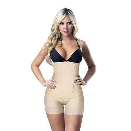 Fajas Colombianas Womens Shapewear 517 Post Surgery Fajas Moldeadoras Side Zip Shaper