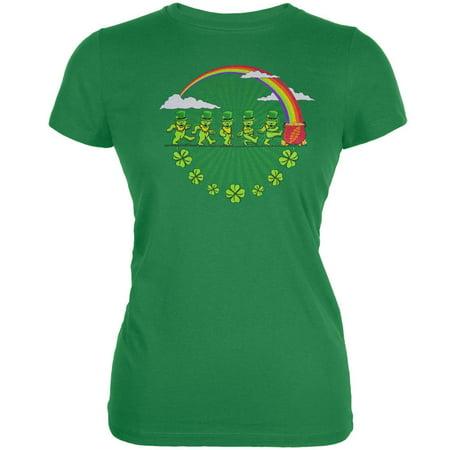 Grateful Dead - Leprechaun Bears Green Juniors T-Shirt