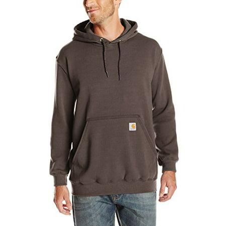 Carhartt Men's Midweight Sweatshirt Hooded Pullover Original Fit K121,Dark Brown,Medium Carhartt B151 Canvas Work Dungaree
