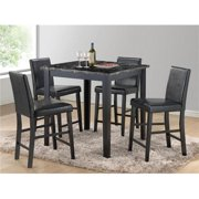 Myco Furniture HR300-CC 20 x 18 x 37 in. Harper Counter Height Chair, Black - Set of 4