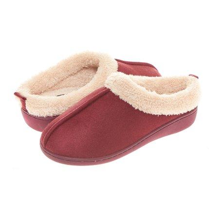 8e144bfa934 Seranoma - Seranoma Women s Faux Fur Comfort Slip On Memory Foam Indoor  Clog House Slippers - Walmart.com