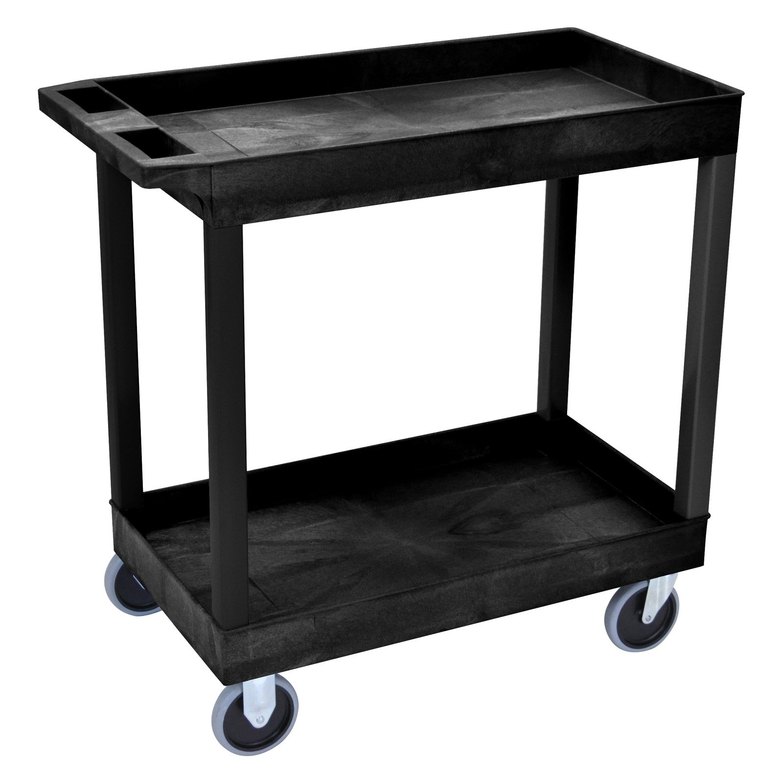Luxor Heavy-Duty 2-Shelf Tub Cart