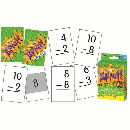 SUBTRACTION SPLAT GAME - Halloween Subtraction Games