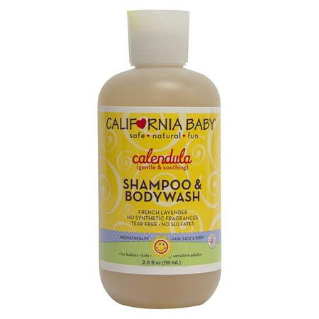 California Baby Calendula Shampoo & Body Wash - 3 Pack 2oz Bottles (6oz Total)