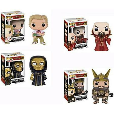POP Movies: Flash Gordon - Flash Gordon,Emperor Ming,General Klytus, Prince Vultan Vinyl Figures! Set of 4