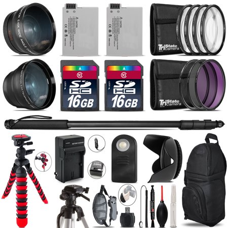 Canon Rebel T3i, T2i, T4i, T5i, EOS 600D, 650D, 700D Bundle Kit - 32GB - 58mm ()