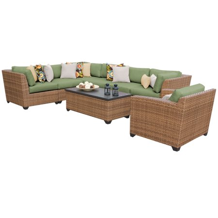 tuscan 8 piece outdoor wicker patio furniture set 08d