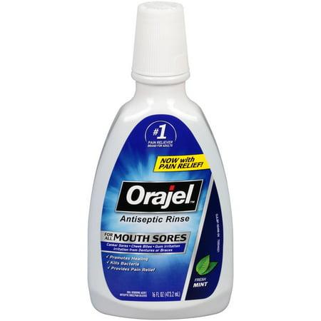 Orajel Antiseptic Rinse, Mint, 16 Fl Oz