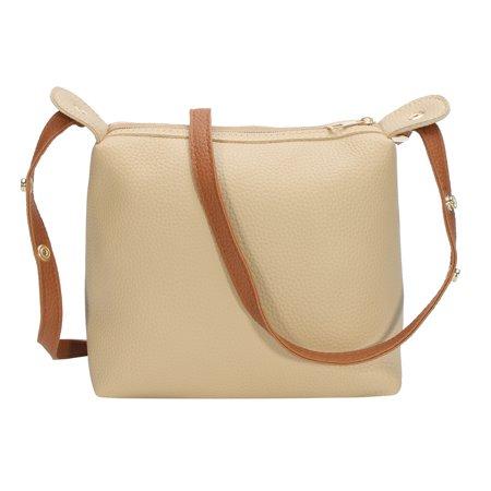 4pcs Women PU Leather Handbag Shoulder Bag Tote Purse Messenger Satchel Clutch - image 1 de 7