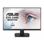 "ASUS VA24EHE 24"" Monitor, 1080P, Full HD, IPS, 75Hz, HDMI D-Sub DVI-D, Adaptive-Sync / FreeSync, VESA wall mountable, Eye Care, Flicker-free and Low Blue Light"