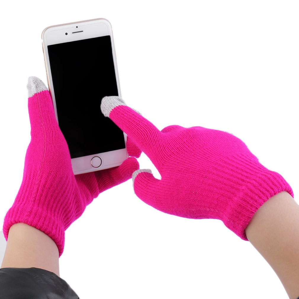 New Unisex Touch Screen Gloves Smartphone Texting Knit Stretch Winter Warm On Clearance