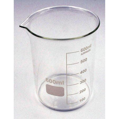 LAB SAFETY SUPPLY Grad Low Beaker,600mL,Borosilicate,PK6 5YGZ5