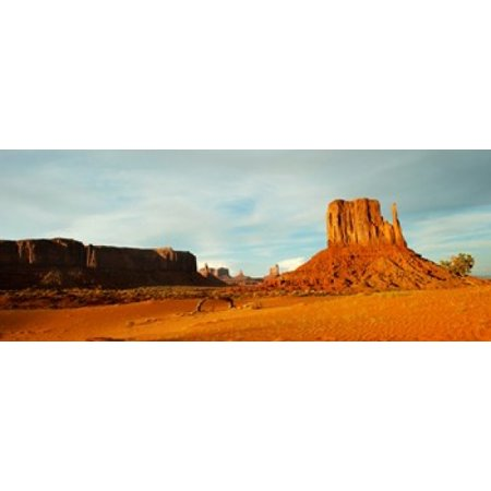 Monument Valley Halloween (Buttes rock formations at Monument Valley Utah-Arizona Border USA Canvas Art - Panoramic Images (15 x)