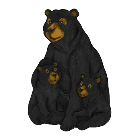 Alpine Black and Brown Family Bear Garden Statue, 22 inch Tall