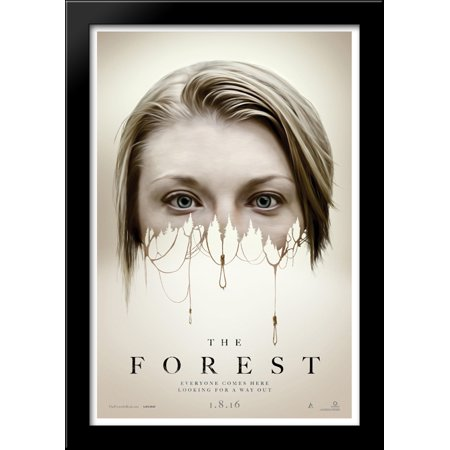 The Forest 28x40 Large Black Wood Framed Print Movie Poster Art