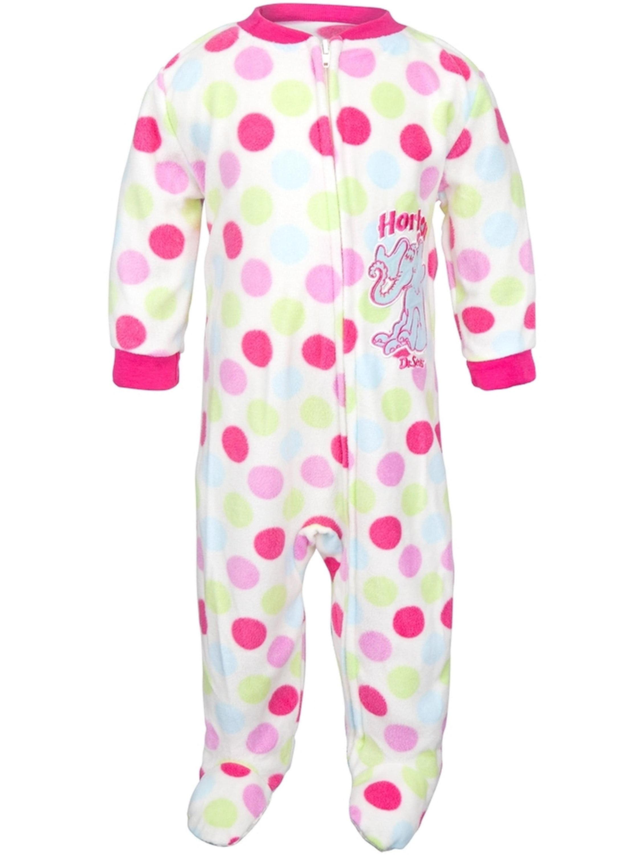 Dr. Seuss - Horton Polka-Dot Infant Footed Pajamas