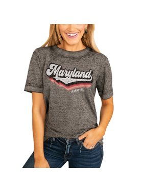 Maryland Terrapins Women's Vivacious Varsity Boyfriend T-Shirt - Charcoal