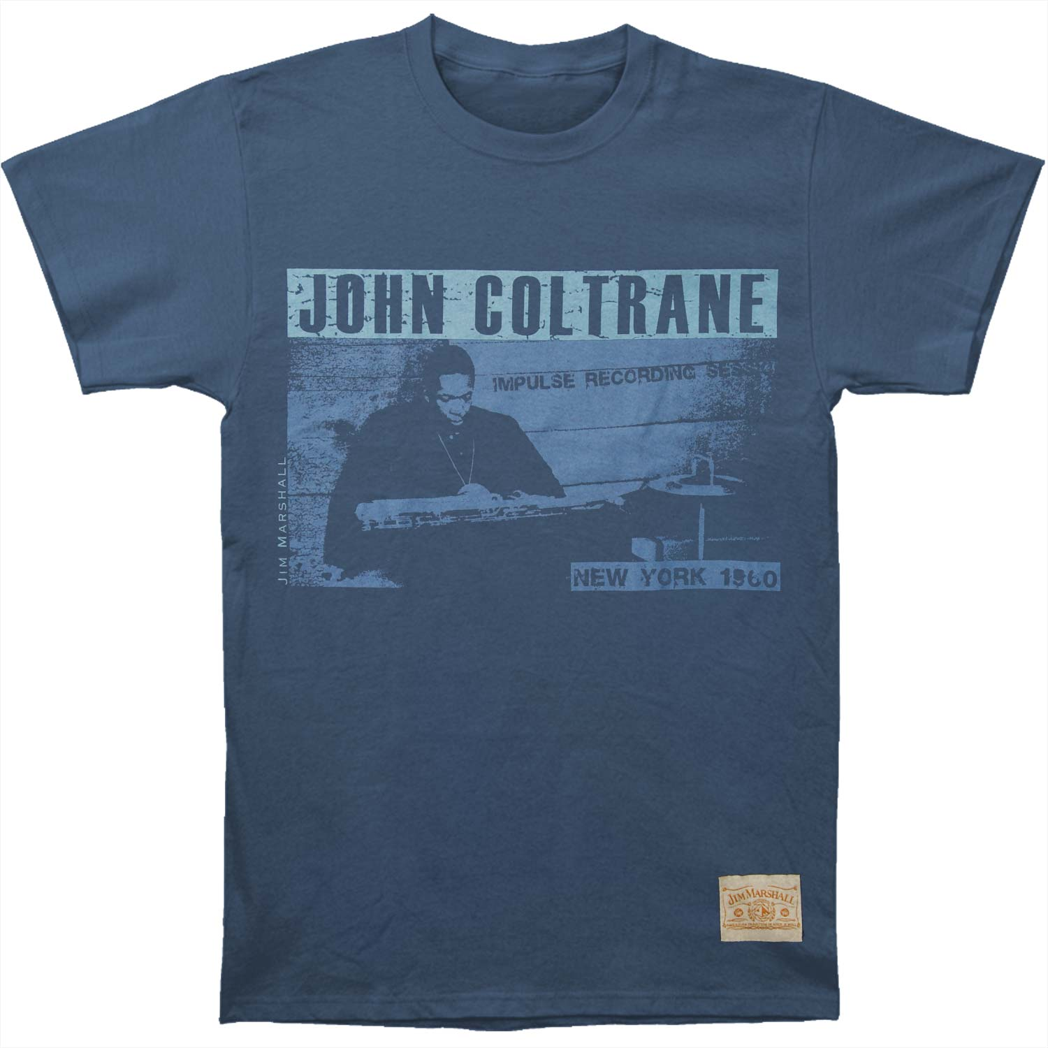 John Coltrane Men's  Playback Vintage T-shirt Navy