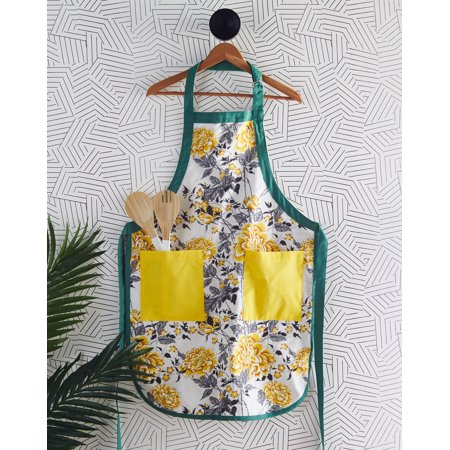 Vintage Floral Apron, Jamaican Yellow by Drew Barrymore Flower Home
