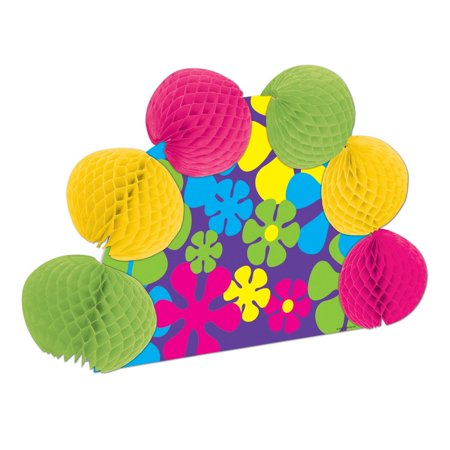 Club Pack of 12 Retro Flowers Pop-Over Tissue Centerpiece Party Decorations 10