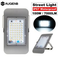 AUGIENB 7000 Lumens 48 LED Street Lights, 100W LED PIR Motion Sensor Lamp Outdoor Security Wall Light with Light Control Sensor IP67 Waterproof For Patio Garden Driveway Yard