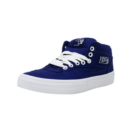 d5b06d5e83 Vans - Vans Half Cab Canvas Blueprint   True White Mid-Top Skateboarding  Shoe - 8.5M 7M - Walmart.com