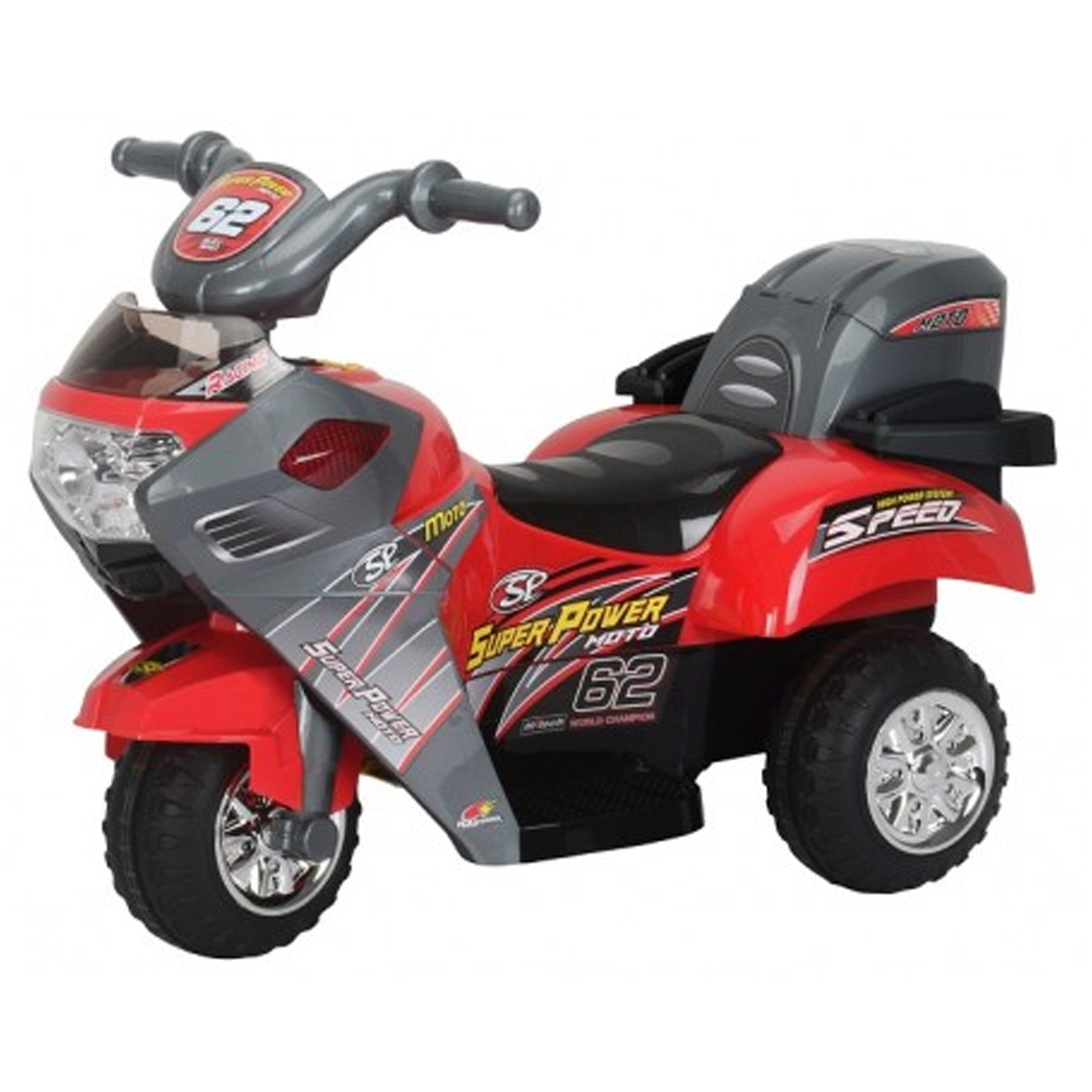 Little 3 Wheeler Red Kids Ride On 6V Battery Powered Mini Motorcycle by KidFun Products