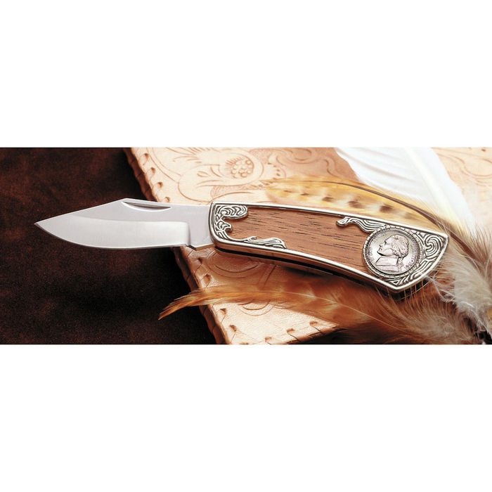 American Coin Treasures Jefferson Wartime Silver Nickel Pocket Knife