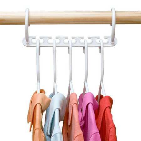 8 Pack Closet Space Saving Hangers, Multi-Purpose Hangers Cascading Hanger Updated Hook Design Wonder Hangers for Organizing Wardrobe Clothing Hanger - image 7 of 8