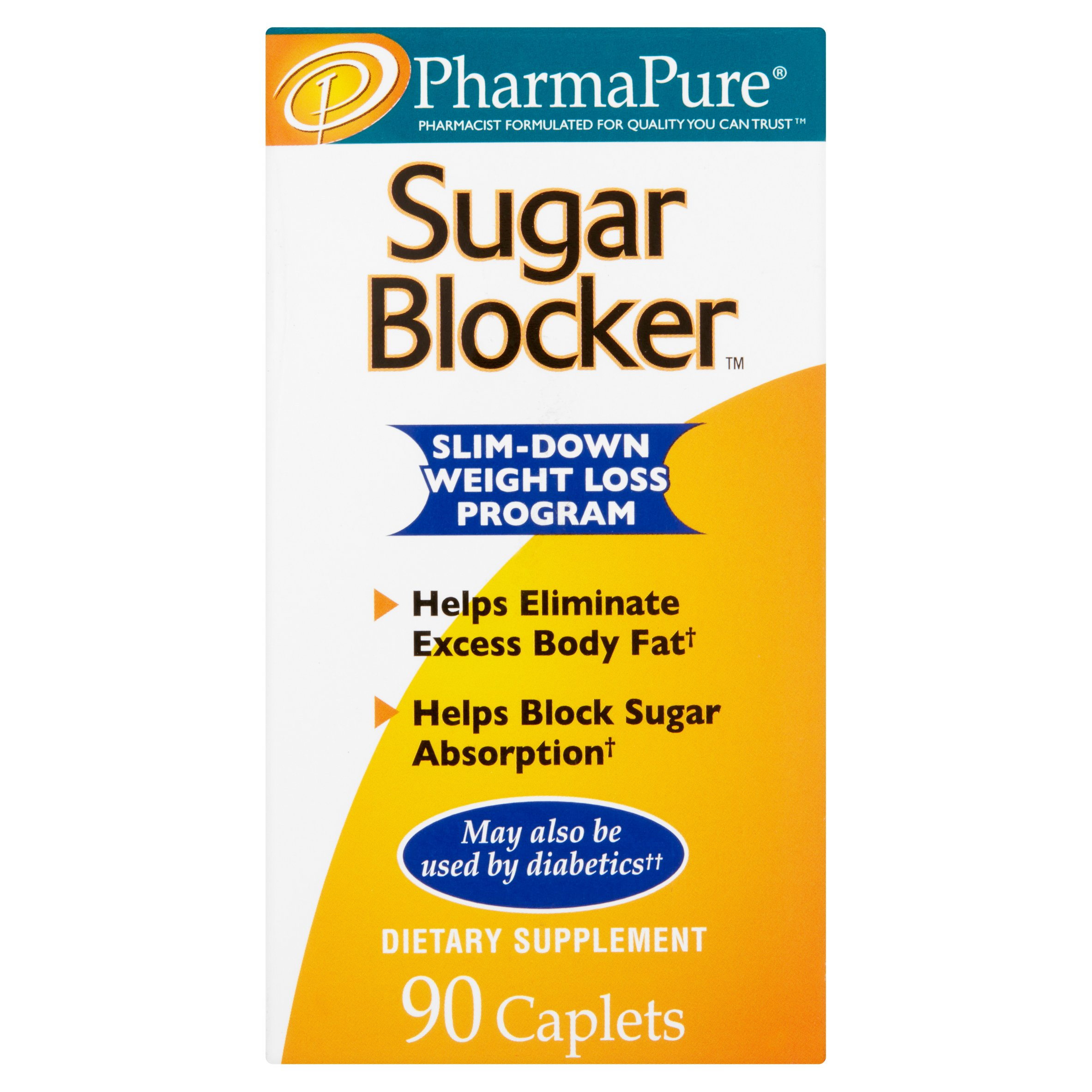 PharmaPure Sugar Blocker Weight Loss Caplets, 90 Ct