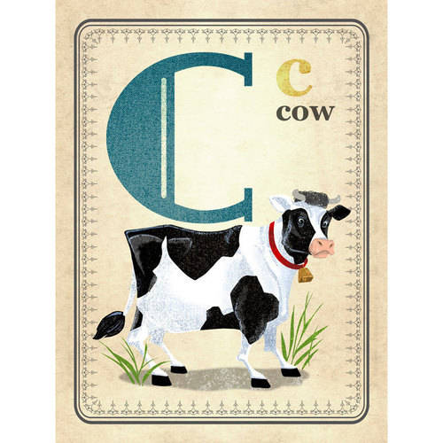 Oopsy Daisy - Canvas Wall Art C Is For Cow 18x24 By Fancy That Design House & Co