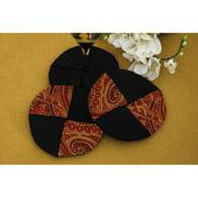 Pacific Table Linens Prema Silk Paisley Wine Glass Coasters (Set of 2)