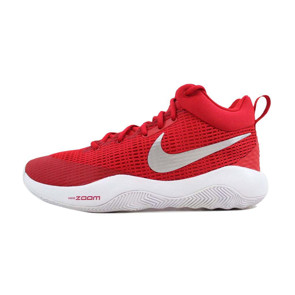 Nike Men's Zoom Rev TB University Red/Metallic Silver 922048-600 Size 10.5