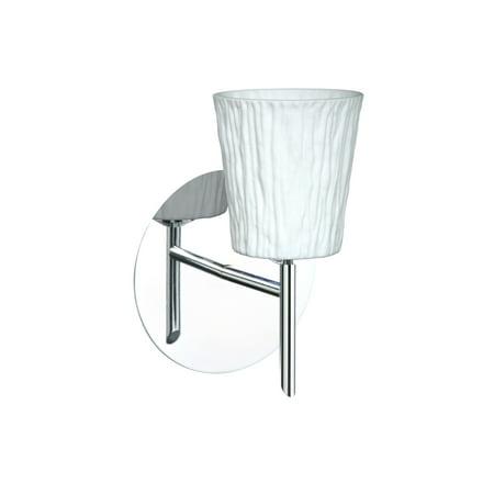 Besa Lighting 1SW-5125OS Nico 1-Light Halogen Bathroom Sconce with Opal Stone Glass Shade